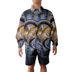 Fractal Tech Disc Background Wind Breaker (kids)