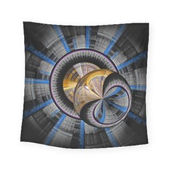 Fractal Tech Disc Background Square Tapestry (small) by Simbadda