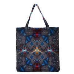 Fancy Fractal Pattern Grocery Tote Bag by Simbadda