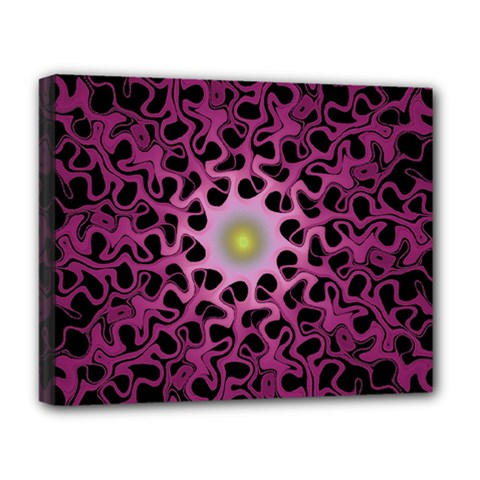 Cool Fractal Deluxe Canvas 20  X 16   by Simbadda