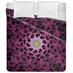 Cool Fractal Duvet Cover Double Side (california King Size) by Simbadda