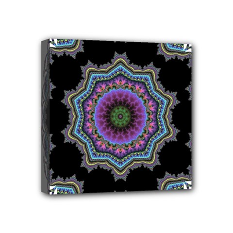 Fractal Lace Mini Canvas 4  X 4  by Simbadda
