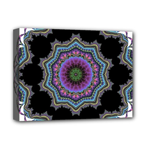 Fractal Lace Deluxe Canvas 16  X 12   by Simbadda