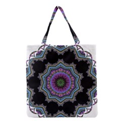 Fractal Lace Grocery Tote Bag by Simbadda