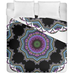 Fractal Lace Duvet Cover Double Side (california King Size) by Simbadda