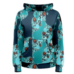 Decorative Fractal Background Women s Pullover Hoodie