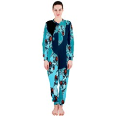 Decorative Fractal Background Onepiece Jumpsuit (ladies)  by Simbadda