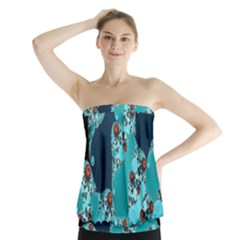 Decorative Fractal Background Strapless Top