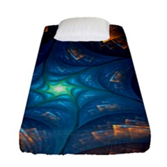 Fractal Star Fitted Sheet (single Size) by Simbadda