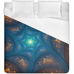 Fractal Star Duvet Cover (king Size) by Simbadda