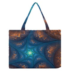 Fractal Star Medium Zipper Tote Bag by Simbadda