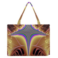 Symmetric Fractal Medium Zipper Tote Bag by Simbadda