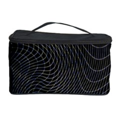 Distorted Net Pattern Cosmetic Storage Case by Simbadda