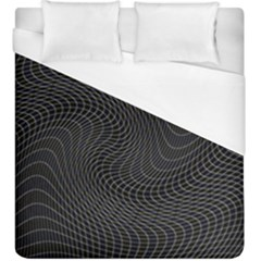 Distorted Net Pattern Duvet Cover (king Size) by Simbadda