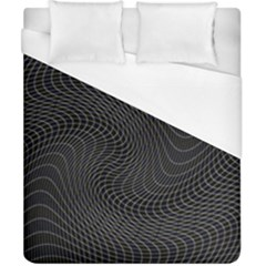 Distorted Net Pattern Duvet Cover (california King Size) by Simbadda