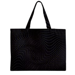 Distorted Net Pattern Medium Tote Bag by Simbadda