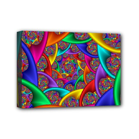 Color Spiral Mini Canvas 7  X 5  by Simbadda