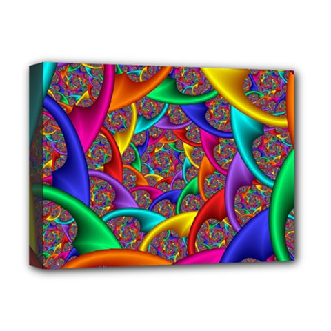 Color Spiral Deluxe Canvas 16  X 12   by Simbadda