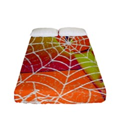 Orange Guy Spider Web Fitted Sheet (full/ Double Size) by Simbadda