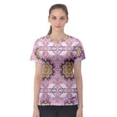 Floral Pattern Seamless Wallpaper Women s Sport Mesh Tee by Simbadda