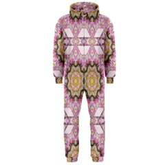 Floral Pattern Seamless Wallpaper Hooded Jumpsuit (men)  by Simbadda