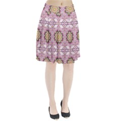 Floral Pattern Seamless Wallpaper Pleated Skirt