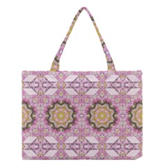 Floral Pattern Seamless Wallpaper Medium Tote Bag by Simbadda