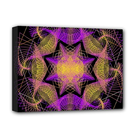 Pattern Design Geometric Decoration Deluxe Canvas 16  X 12   by Simbadda