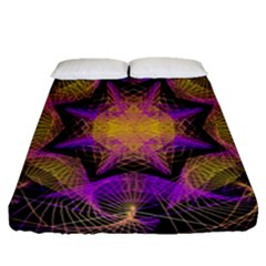 Pattern Design Geometric Decoration Fitted Sheet (queen Size) by Simbadda