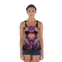 Pattern Design Geometric Decoration Women s Sport Tank Top