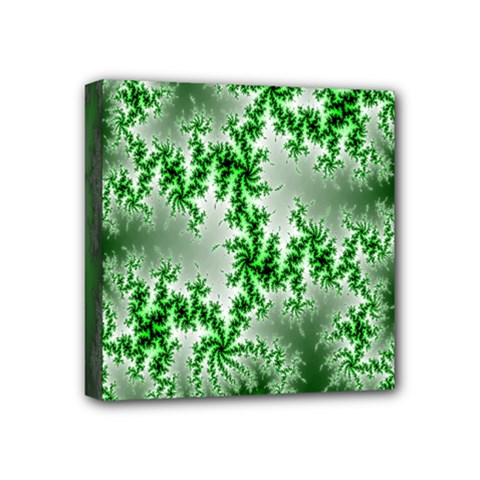 Green Fractal Background Mini Canvas 4  X 4  by Simbadda