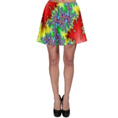 Colored Fractal Background Skater Skirt by Simbadda