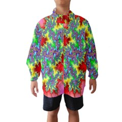 Colored Fractal Background Wind Breaker (kids) by Simbadda