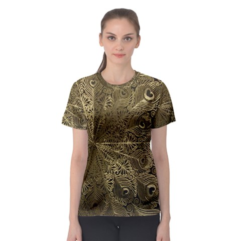 Peacock Metal Tray Women s Sport Mesh Tee by Simbadda