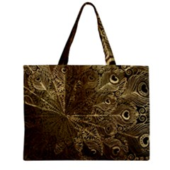 Peacock Metal Tray Zipper Mini Tote Bag by Simbadda