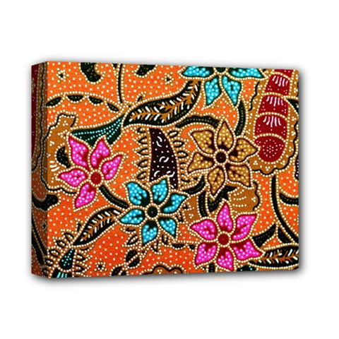 Colorful The Beautiful Of Art Indonesian Batik Pattern Deluxe Canvas 14  X 11  by Simbadda