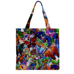 Color Butterfly Texture Grocery Tote Bag by Simbadda