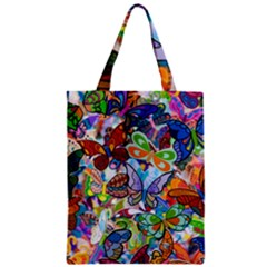 Color Butterfly Texture Zipper Classic Tote Bag by Simbadda