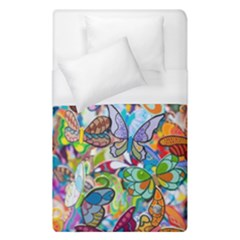 Color Butterfly Texture Duvet Cover (single Size) by Simbadda
