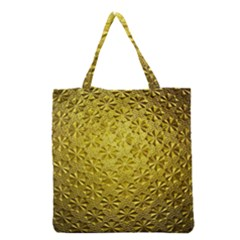 Patterns Gold Textures Grocery Tote Bag by Simbadda
