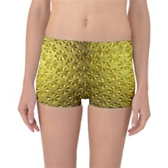 Patterns Gold Textures Boyleg Bikini Bottoms by Simbadda