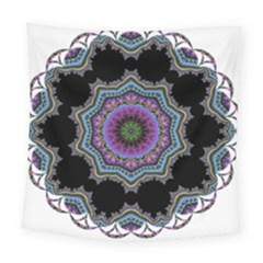 Fractal Lace Square Tapestry (large) by Simbadda