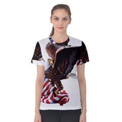 Independence Day United States Women s Cotton Tee by Simbadda