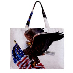 Independence Day United States Zipper Mini Tote Bag by Simbadda