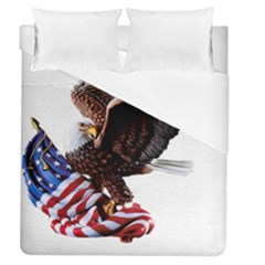 Independence Day United States Duvet Cover (queen Size) by Simbadda