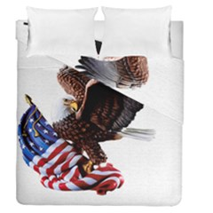 Independence Day United States Duvet Cover Double Side (queen Size) by Simbadda