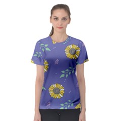 Floral Flower Rose Sunflower Star Leaf Pink Green Blue Yelllow Women s Sport Mesh Tee by Alisyart