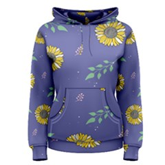 Floral Flower Rose Sunflower Star Leaf Pink Green Blue Yelllow Women s Pullover Hoodie