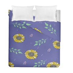 Floral Flower Rose Sunflower Star Leaf Pink Green Blue Yelllow Duvet Cover Double Side (full/ Double Size) by Alisyart