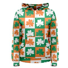 Ireland Leaf Vegetables Green Orange White Women s Pullover Hoodie